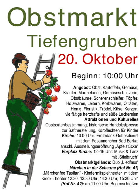 www.Ferienwohnung-WeimarerLand.de / Obstmarkt 2018 in Tiefengruben